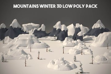 Free Winter Mountain 3D Low Poly Models