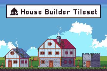 House Builder Tileset Pixel Art