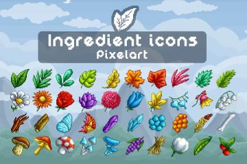 Ingredient Icons Pixel Art