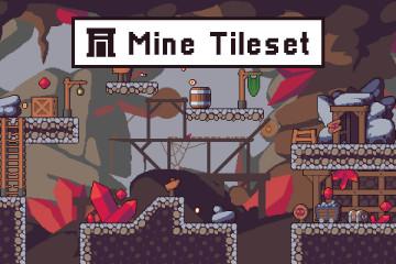 Mine Tileset Platformer Pixel Art
