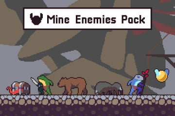 Underground Mine Character Spritesheets Pixel Art