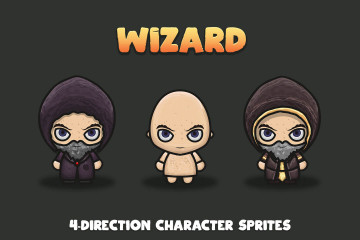Wizard 4-Direction Characters