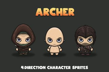 Archer 4-Direction Character Sprites