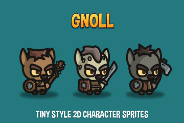 Gnoll Tiny Style 2D Character Sprites