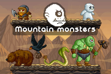 Mountain Monsters Pixel Art Pack