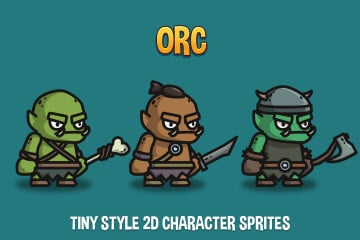 Orc Tiny Style 2D Character Sprites