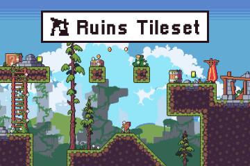 Ruins Game Tileset Pixel Art