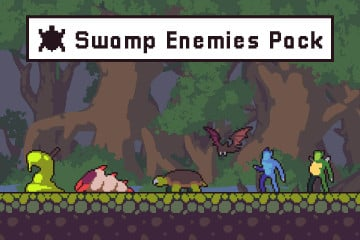 Swamp Enemies Sprite Sheets Pixel Art