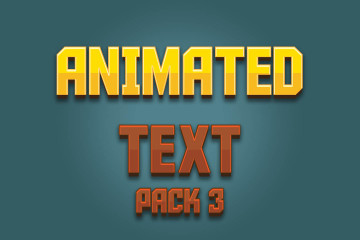 Animated Text Game Assets Pack 3