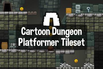 Cartoon Dungeon Platform 2D Tileset