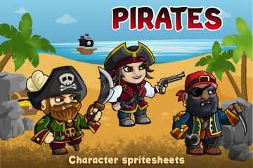 Free 2D Pirate Character Sprites