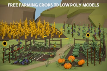 Free Farming Crops 3D Low Poly Models