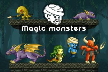 Free RPG Monster Sprites Pixel Art