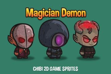 Magician Demon Chibi 2D Sprites