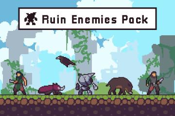 Ruin Enemy Sprite Sheets Pixel Art