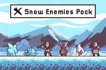 Snow Enemy Character Sprites Pixel Art