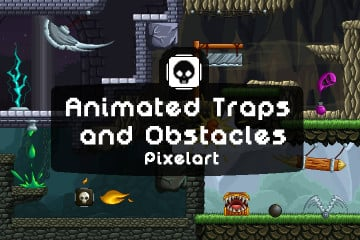 Animated Traps and Obstacles Pixel Art