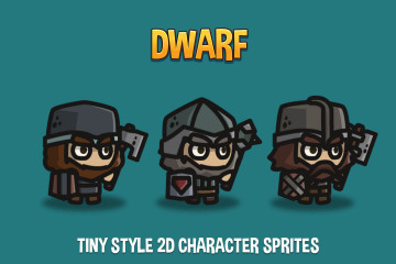 Dwarf Tiny Style 2D Character Sprites