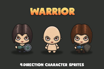 Woman Warrior 4-direction Sprites