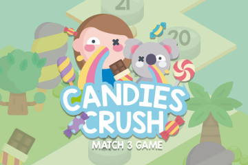 Candies Crush Match 3 Game Assets Pack