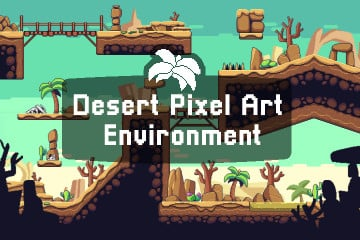 Desert Pixel Art Environment Assets Pack