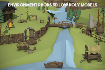 Environment Props 3D Low Poly Pack