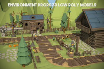 Free Environment Props 3D Low Poly Models