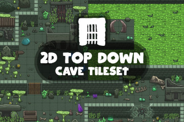 2D Top Down Cave Tileset