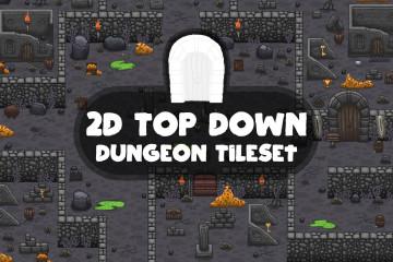 2D Top Down Dungeon Tileset