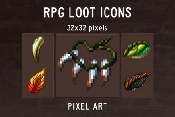 Free RPG Loot Icons Pixel Art