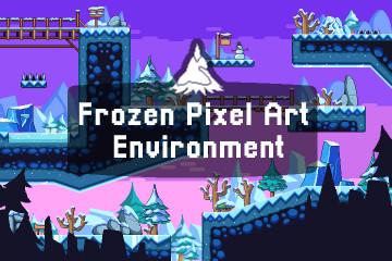 Frozen Pixel Art Environment Assets Pack