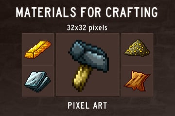 Materials for Crafting Pixel Art Icons
