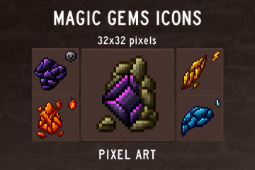 RPG Gems Icon Pack Pixel Art