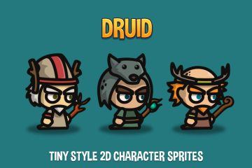 Druid Tiny Style 2D Character Sprites