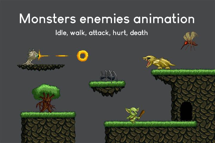 Fantasy Platformer Game Kit Pixel Art