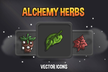 Free Alchemy Herbs Vector Icons