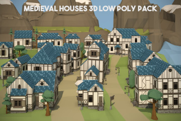 Free Medieval Houses 3D Low Poly Pack