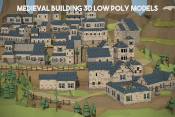 Medieval Building 3D Low Poly Models