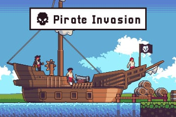 Pirate Invasion Game Assets Pixel Art Pack