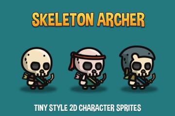 Skeleton Archer Tiny Style 2D Sprites
