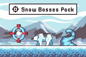 Snow Bosses Game Character Pixel Art Pack
