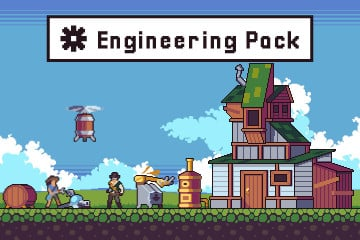 Engineering Game Assets Pack Pixel Art