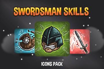 Free Swordsman Skills Icon Pack