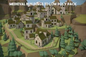 Medieval Buildings 3D Pack