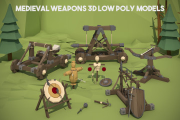 Medieval Weapons 3D Low Poly Models