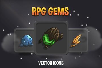 RPG Gems Vector Icons
