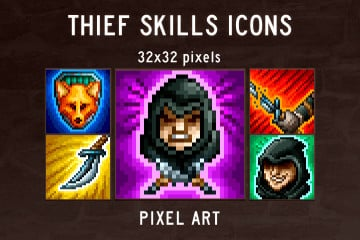 Thief Skills Pixel Art Icon Pack