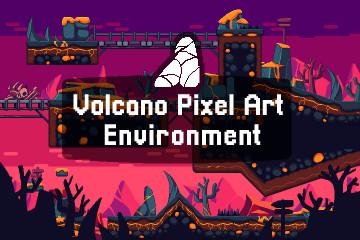 Volcano Pixel Art Environment Assets Pack