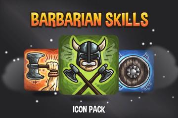 Barbarian Skills Icon Pack