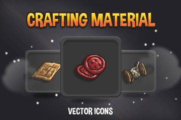 Crafting Material Vector Icons